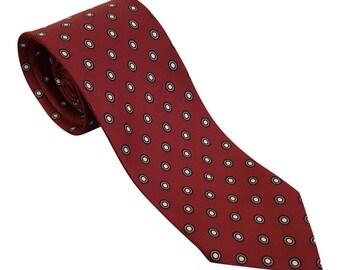 CHRISTIAN DIOR Vintage Silk Red Tie