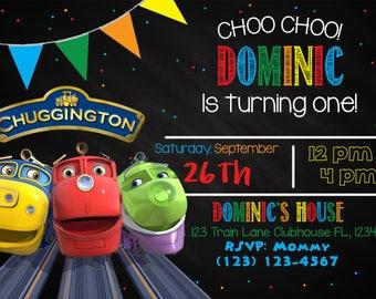 Chuggington Birthday Invitation, Chuggington Invite, Chuggington Invitation, Train Invite
