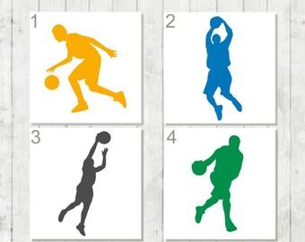 Basketball Decal, Basketball Player Decal, Sports Decal, Gift for Basketball Team, Sports Lover, Basketball Party Favors, Basketball Gifts