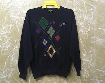 Vintage 90s Kenzo Golf sweatshirt jumper jacket big logo black colour