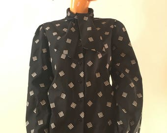 Vintage Judy Bond Blouse with neck tie