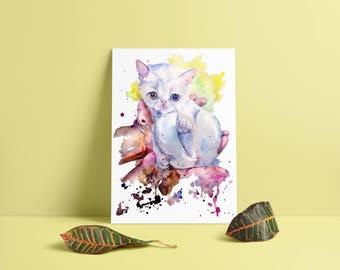 Custom watercolor art FREE SHIPPING