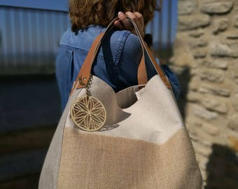 Tote Bag - Collection Nude - Beige/Ecru - linen, jute and cotton