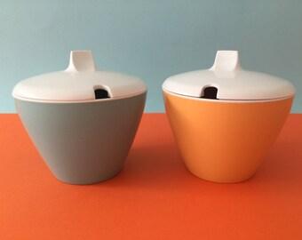 Vintage Basdonware and Ornaminware Lidded Sugar Bowls