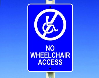 Access Aluminum Sign