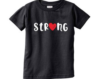 CHD Awareness I Strong | Heart Warrior bodysuit/ tee