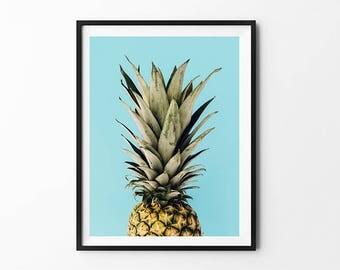 Pineapple Print, Pineapple Art, Pineapple Poster, Pineapple Photography, Pineapple Illustration, Pineapple Decor, Pineapple Wall Art
