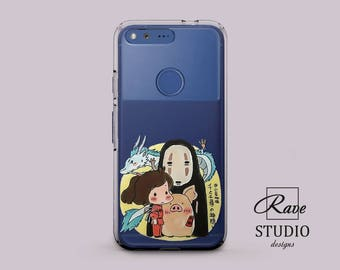 No Face phone case Studio Ghibli Spirited away Anime gifts Faceless painting Cute cases Google Pixel xl case Pixel cases clear Google case