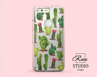 Google Pixel xl case Cactus phone case Pixel case clear Succulent case Pixel 2 xl sleeve Cactus print art Google Pixel 1 case Pixel 2 case