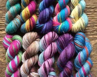 Knit Picks Felici Sock Yarn Mini Skein Set -- 10 Mini Skeins/25 Yards Each