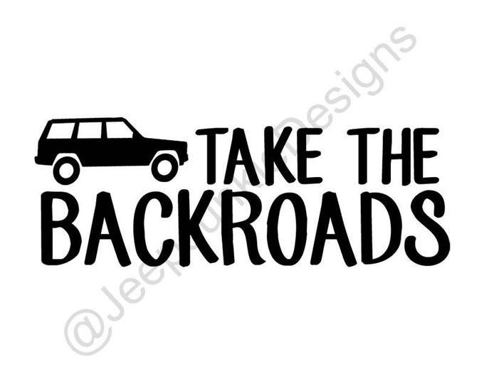 Take the Backroads Jeep Cherokee Sticker