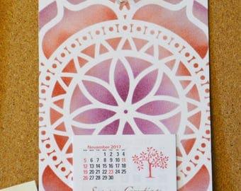 Mini Calendar, Calendar, Desk Calendar, Mini Calendar 2018, Cubicle Calendar, Gifts for Her, Gifts for Him, Co-Worker Appreciation
