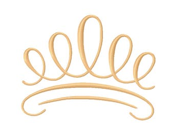 9 SIZES! Crown Embroidery Designs Monogram Designs Embroidery PES Digital Machine Embroidery - Instant Download