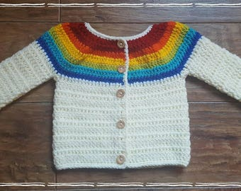 Rainbow cardigan/jacket 1 to 2 years.