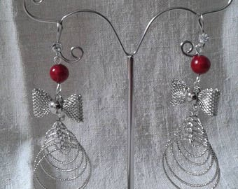 """""""bow and cascade rings"""" earrings"""