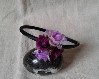 "headband ""bouquet of purple flowers"""