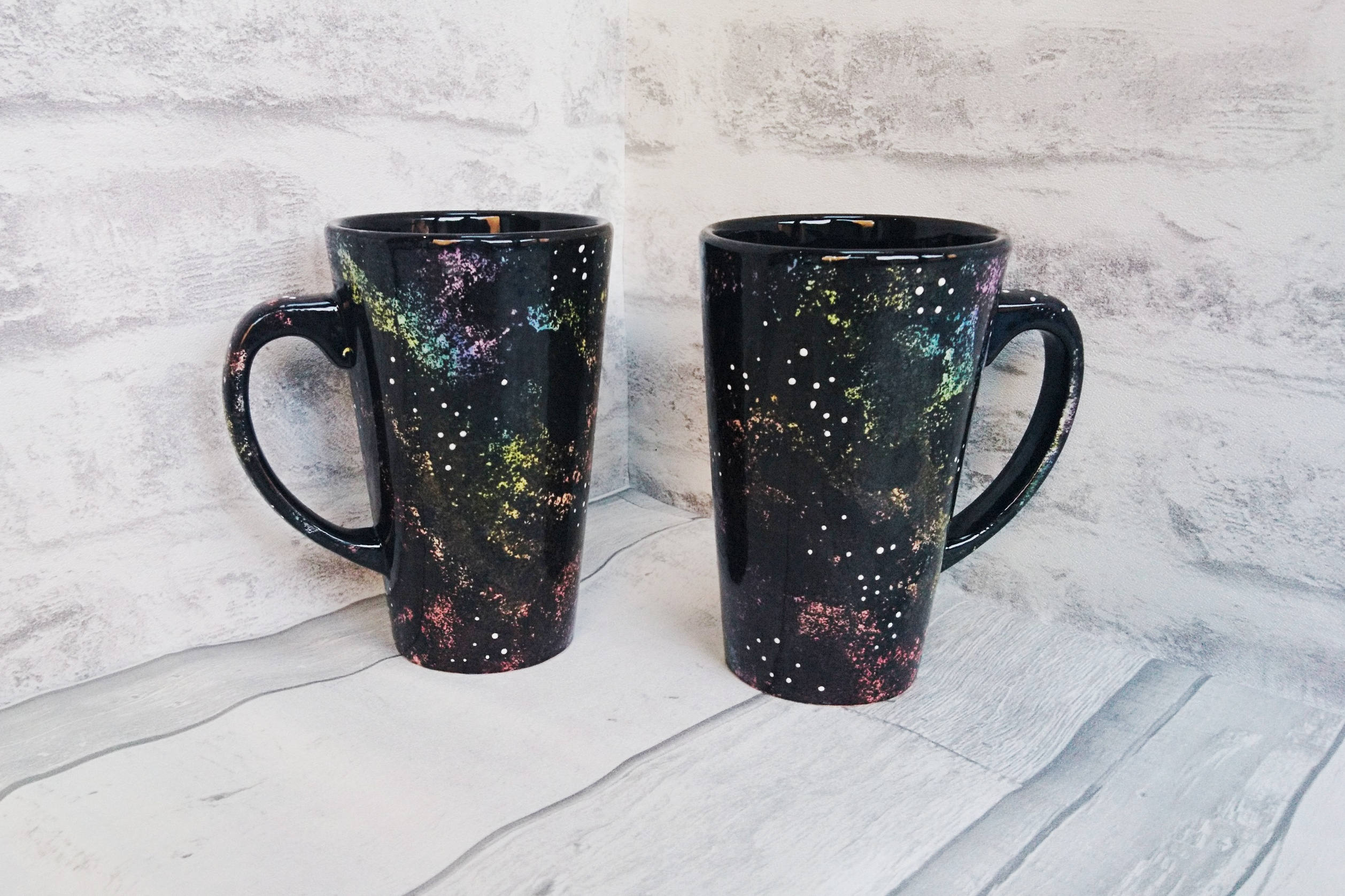 Astronomy Latte Mug Galaxy Cup Large Space Mugs Hand