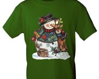 T-shirt with print snowman Snowman reindeer S-XXL