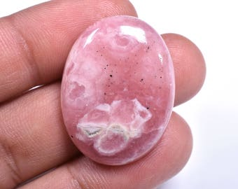 Natural Pink RHODOCHROSITE OVAL CABOCHON Loose Gemstone 22x29x7mm 46 Cts (2650-51)