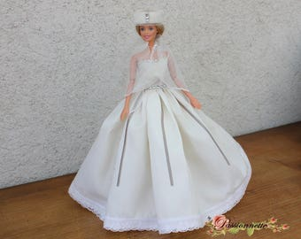 Barbie wedding dress, handmade