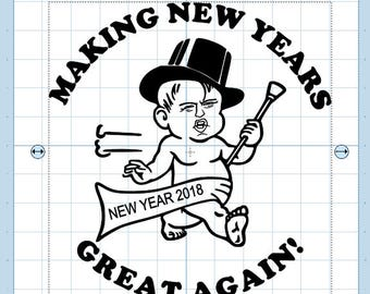 Making  new years great again .. with DJT .. SVG