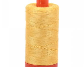 Pale Yellow 1135 - Aurifil Mako 50 wt Cotton Thread - 1422 yds