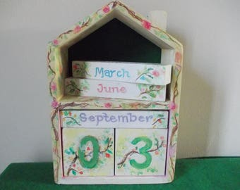 Wooden Calendar Hand Painted Waldorf Inspired Crafts