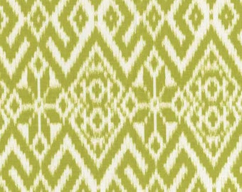 Green and white patchwork fabric DEARSTELLADESIGN FAIR ISLE