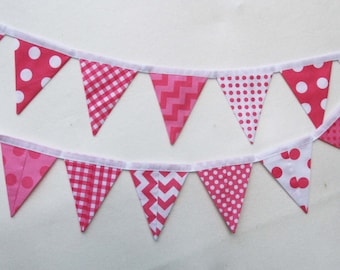 Pink fabric Panel for kids decor banner