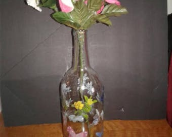 Butterfly Vase with Flowers
