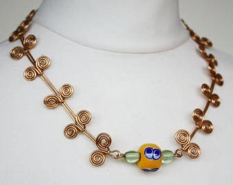 Iron age necklace bronze