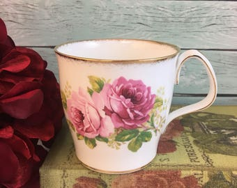 American Beauty Roses Royal Albert Tea Coffee Cup Mug Vintage Fine Bone China Porcelain Lovely! Made in England