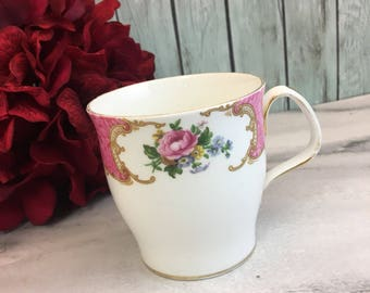 Royal Albert Lady Carlyle Pink Roses Tea Coffee Cup Mug Vintage Fine Bone China Porcelain Made in England