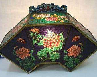 Vintage Chinese Plique a Jour Lamp