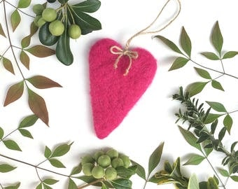 Hanging Heart ,Wool Hearts,Heart Decoration,Felt Heart,Home Decor,Valentines Day,Mothers day,Handmade Felt Heart,Wool Heart,Gift,