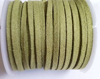 1 m olive green suede 3mm cord
