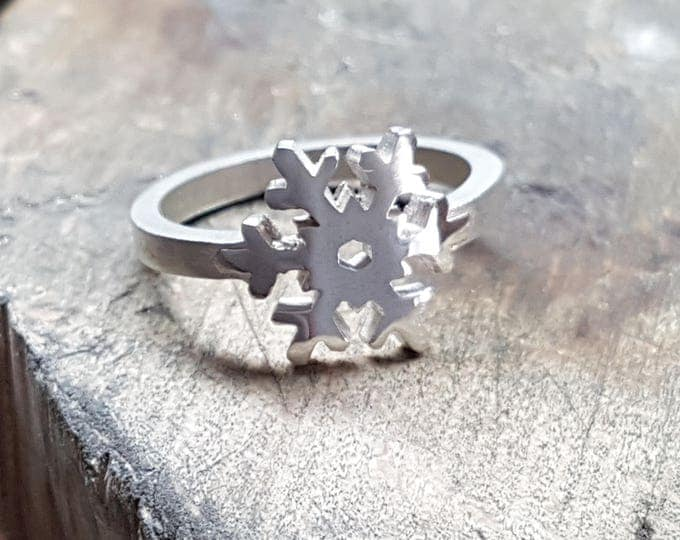 SNOWFLAKE RING - Sterling Silver