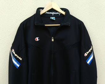 Vintage Champion small logo embroider retro trainer jacket