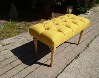 Upholstered bench. Dressingroom bench. Hallway bench. Bedroom bench. Tufted bench.