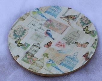 6 Round Birds and Butterfly Coasters