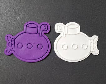 Submarine Cookie Cutter and Stamp