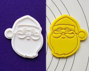Santa Smiling Cookie Cutter and Stamp