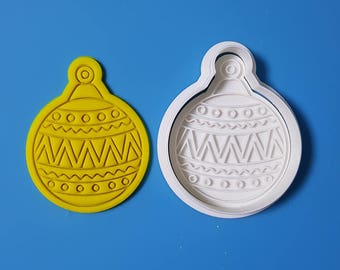 Round Ornament - Pattern Cookie Cutter and Stamp