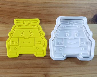 Robocar Poly - Poly Cookie Cutter and Stamp