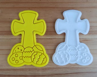 The Cross on Eggs  Cookie Cutter and Stamp
