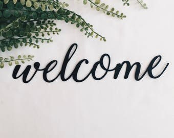 12 Inch Metal Welcome Sign