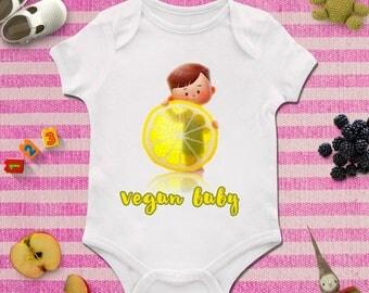 Funny vegan baby