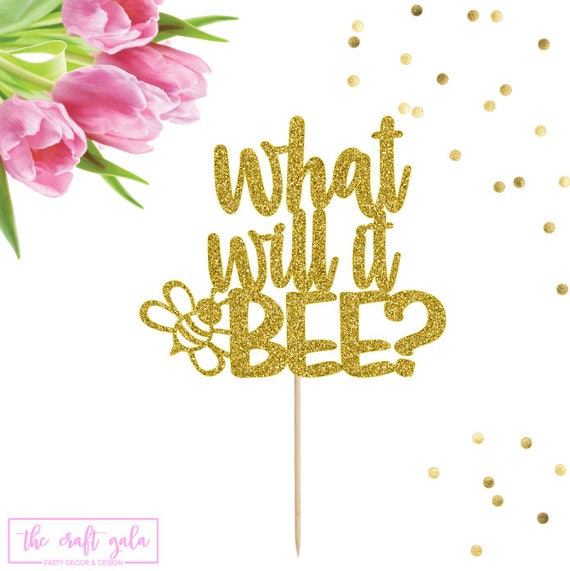 What Will It Bee Cake Topper Gender Reveal Baby