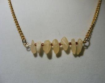Aragonite Bar Necklace   Aragonite Gemstone Necklace   Gemstone Necklace