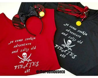 Pirate tees, pirate shirt, pirates of the Caribbean, Disney trip, pirate,  birthday shirt, adventure, pirate apparel